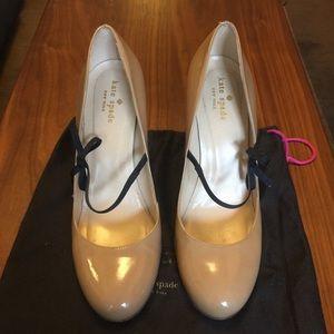 Kate Spade nude heels sz 9.5 EUC